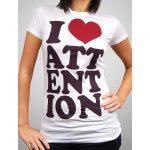 Camiseta de Amo la atención