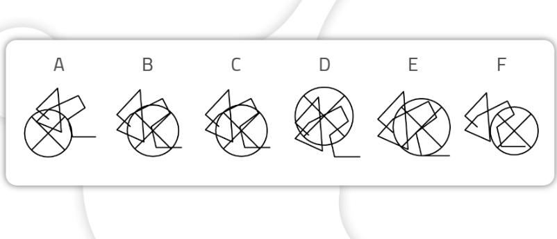 ejercicios para mejorar la atención_Encontrar las figuras iguales-difícil