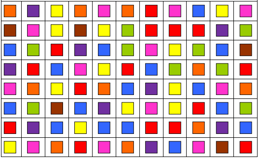 Cognitive stimulation worksheets to improve gnosis -identifying colors