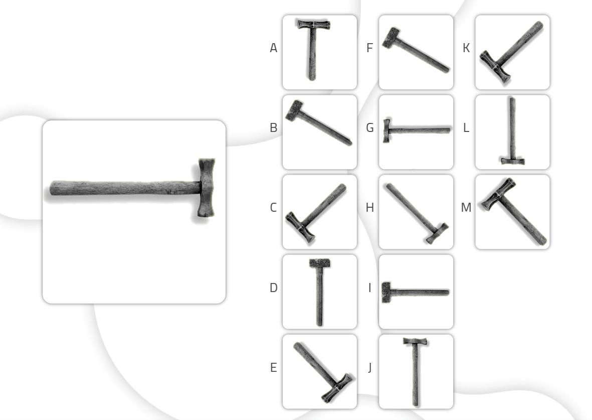 Fichas de estimulación cognitiva para trabajar las gnosias- objetos iguales-avanzado