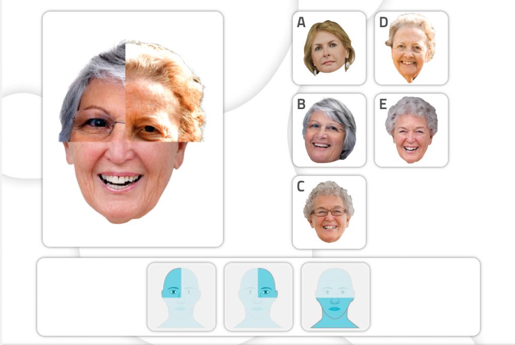 Fichas de estimulación cognitiva para trabajar las gnosias- reconocimiento de partes faciales