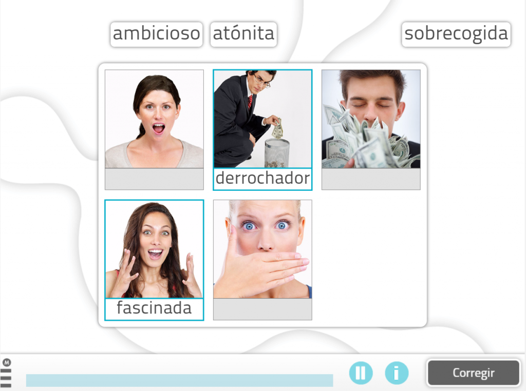 10 ejercicios para estimular el lenguaje- relacionar adjetivo con imagen