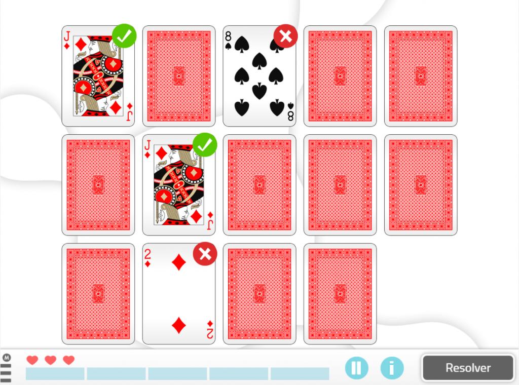 6 ejercicios para mejorar la memoria -empareja las cartas