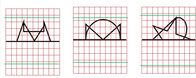 Ejercicios para trabajar las praxias- completar los dibujos simétricos-Exercises to improve praxis