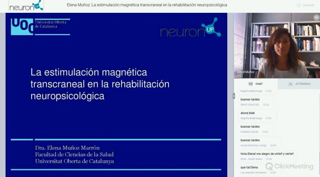 La Dra. Elena Muñoz responde las dudas pendientes sobre la ponencia la estimulación magnética transcraneal en la rehabilitación neuropsicológica