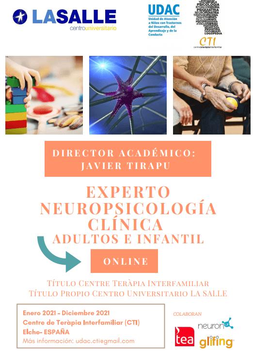 Experto-Máster en Neuropsicología Clínica. Adultos e Infantil