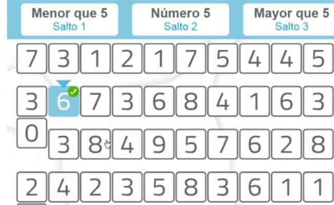 ficha de estimulación cognitiva 'Actos según números' en formato digital