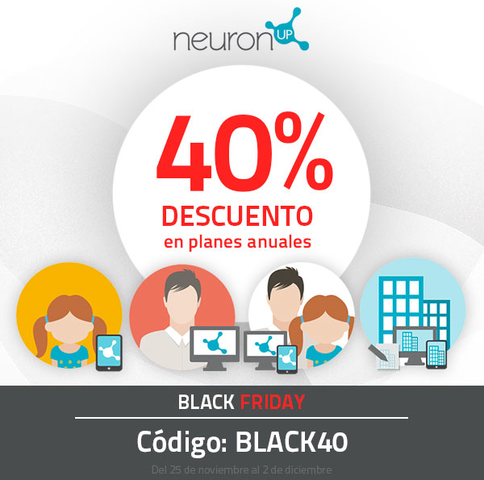 ¡¡¡Ya es BLACK FRIDAY en NeuronUP!!!