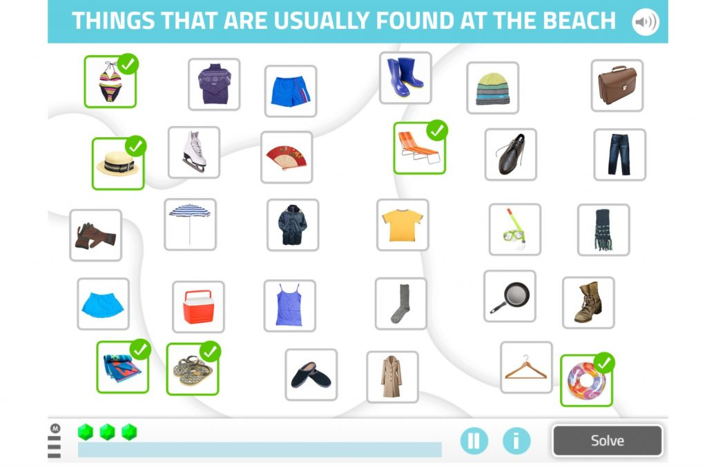 Select items from a category