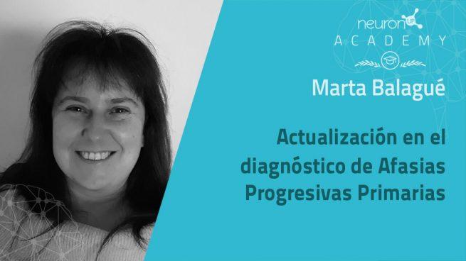 Marta Balagué responde a las dudas sobre su ponencia sobre la actualización en el diagnóstico de afasias progresivas primarias