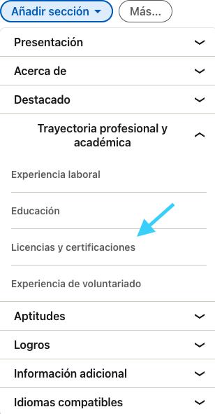 cómo agregar el certificado a LinkedIn