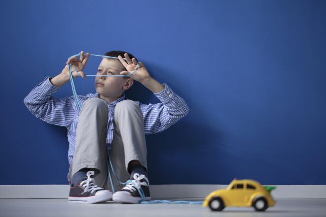 Niño con autismo. Trastornos del neurodesarrollo