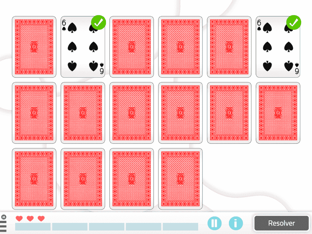 """Intervención con NeuronUP en personas con síndrome de Down con la actividad """"empareja las cartas de póquer"""""""