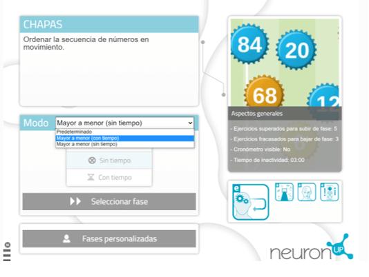 Configuraciones predeterminadas de NeuronUP