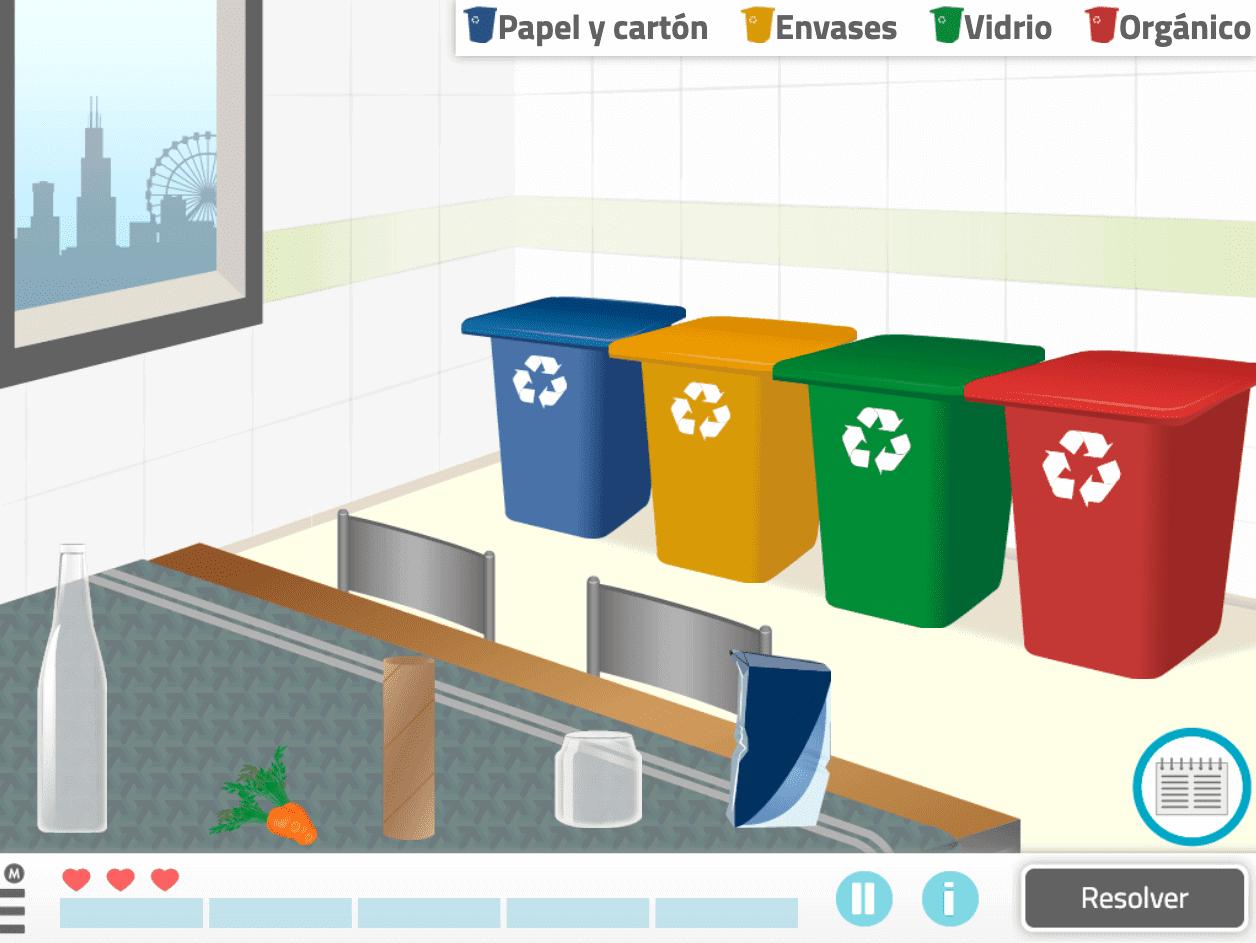 """Actividad de NeuronUP """"Recicla tu basura"""""""